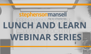 Lunch and Learn Webinar Series